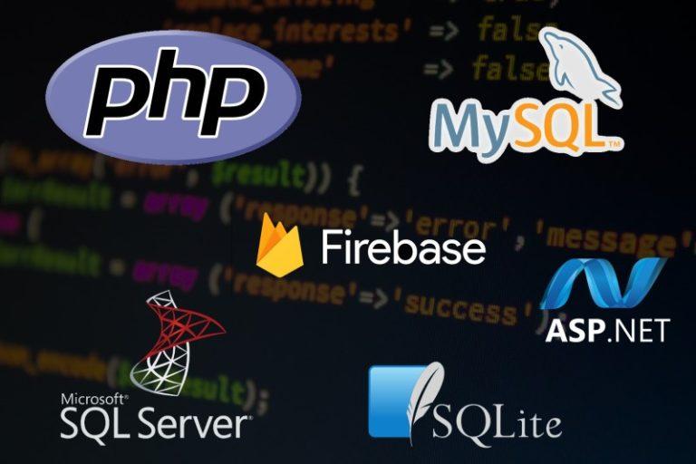Logos of back-end software